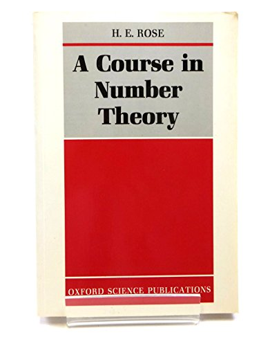 9780198532613: A Course in Number Theory