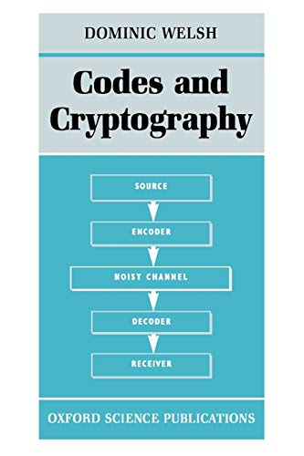 9780198532873: Codes and Cryptography