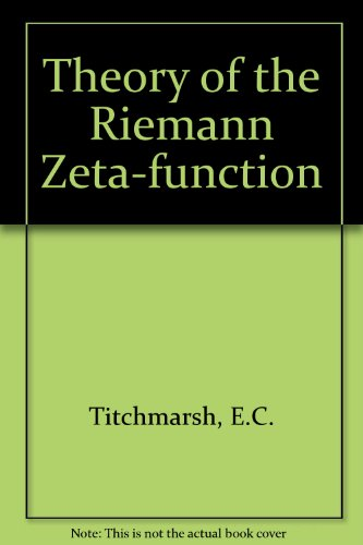 9780198533214: The Theory of the Riemann Zeta-Function