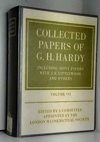 9780198533474: Collected Papers of G.H. Hardy: including Joint Papers with J.E. Littlewood and others Volume 7 (v. 7)