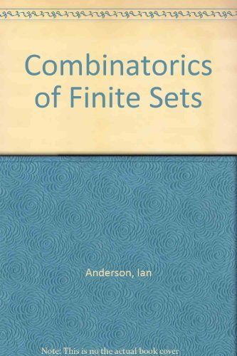 9780198533672: Combinatorics of Finite Sets