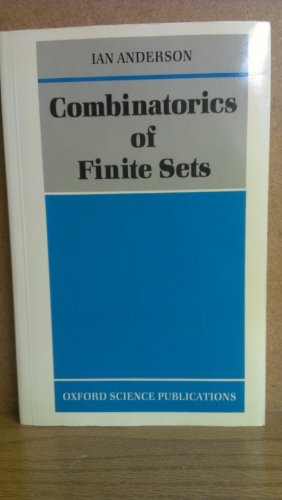 9780198533795: Combinatorics of Finite Sets