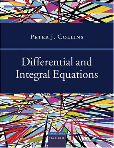 Differential and Integral Equations: Collins, Peter