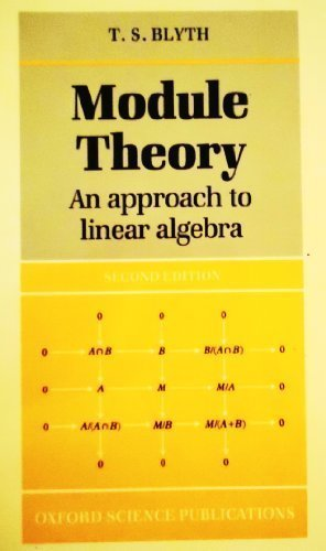 Module Theory: An Approach to Linear Algebra: Blyth, T. S.