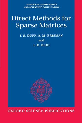 9780198534211: Direct Methods for Sparse Matrices (Numerical Mathematics and Scientific Computation)