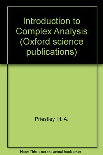 9780198534297: Introduction to Complex Analysis (Oxford science publications)
