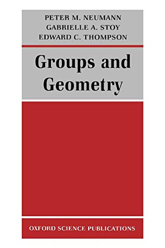 9780198534518: Groups and Geometry