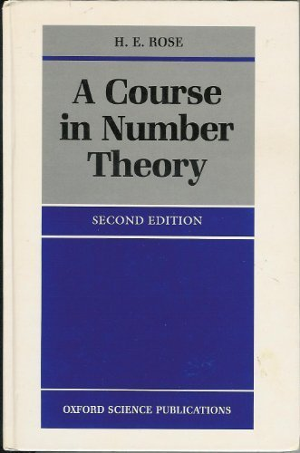 9780198534792: A Course in Number Theory