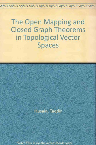 9780198535065: The Open Mapping and Closed Graph Theorems in Topological Vector Spaces