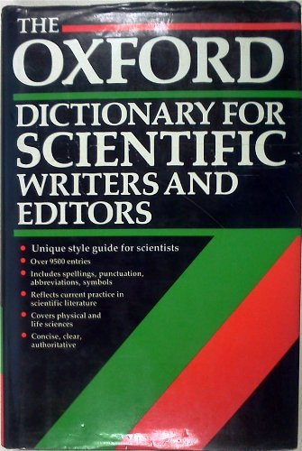 9780198539209: The Oxford Dictionary for Scientific Writers and Editors