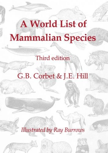 9780198540175: A World List of Mammalian Species (Natural History Museum publications)