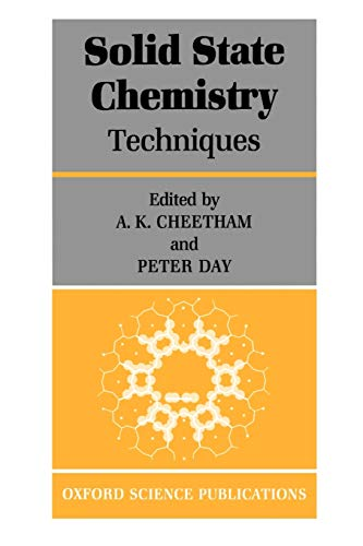 9780198552864: Solid State Chemistry: Volume 1: Techniques