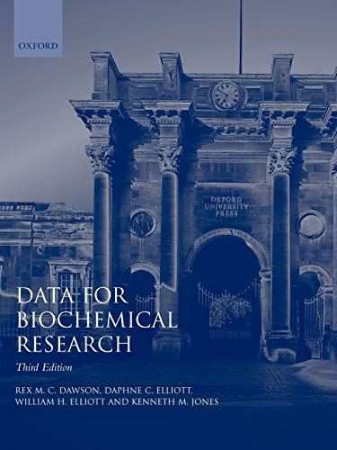 9780198552994: Data for Biochemical Research