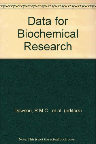 Data for Biochemical Research: Dawson, R.M.C. (Editor)