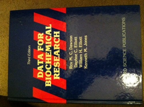 9780198553588: Data for Biochemical Research