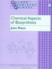 9780198556770: Chemical Aspects of Biosynthesis