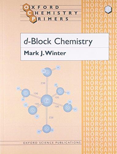 9780198556961: d-Block Chemistry (Oxford Chemistry Primers)