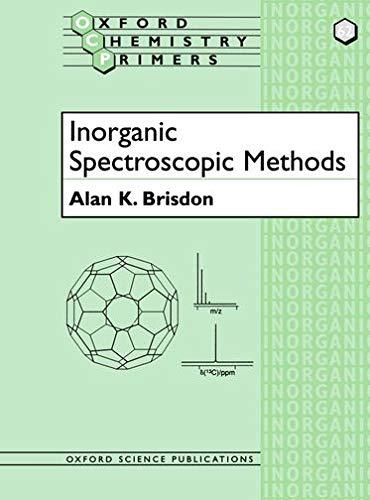 9780198559498: Inorganic Spectroscopic Methods