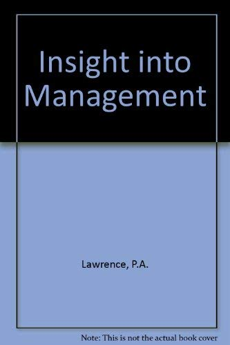 9780198561538: INSIGHT INTO MANAGEMENT
