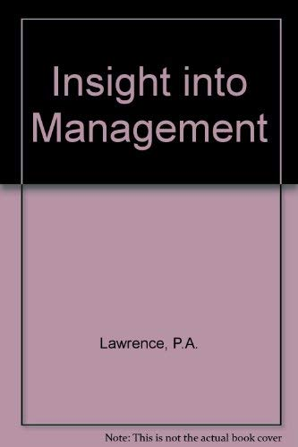 9780198562269: Insight into Management (Oxford science publications)