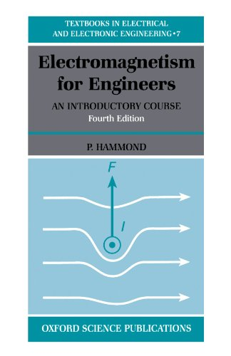 9780198562986: Electromagnetism for Engineers: An Introductory Course (Textbooks in Electrical and Electronic Engineering)