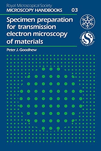 9780198564034: Specimen Preparation for Transmission Electron Microscopy of Materials (Royal Microscopical Society Microscopy Handbooks)