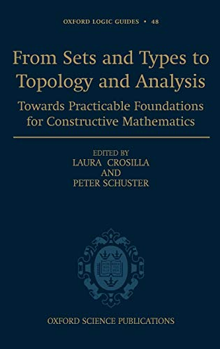 From Sets and Types to Topology and Analysis: Towards Practicable Foundations for Constructive ...