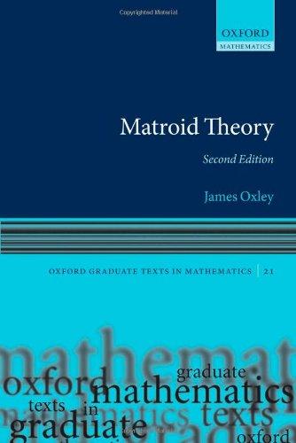 MATROID THEORY JAMES OXLEY 2011 PDF