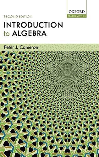 9780198569138: Introduction to Algebra