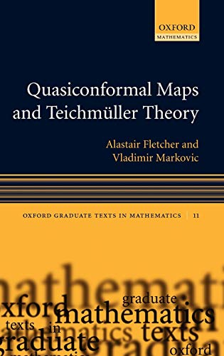 9780198569268: Quasiconformal Maps and Teichmüller Theory (Oxford Graduate Texts in Mathematics)