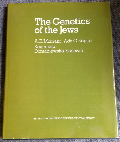 9780198575221: The Genetics of the Jews (Research Monographs on Human Population Biology)