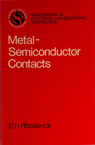 9780198593355: Metal-Semiconductor Contacts (Monographs in Electrical and Electronic Engineering)