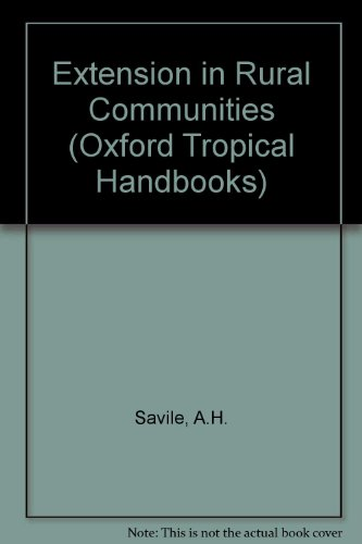 Extension in Rural Communities: A.H. Savile