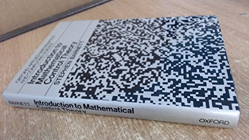 9780198596189: Introduction to Mathematical Control Theory (Oxford applied mathematics and computing science series)