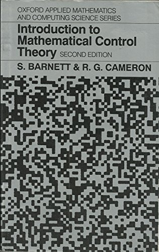 9780198596394: Introduction to Mathematical Control Theory (Oxford Applied Mathematics and Computing Science Series)
