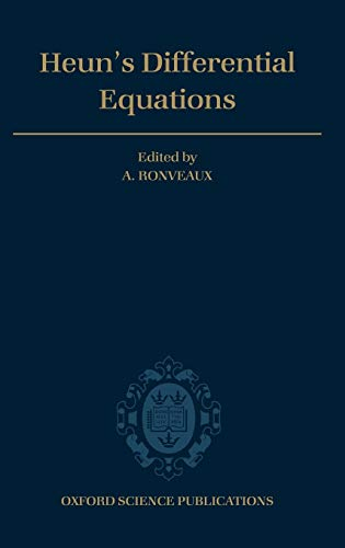 9780198596950: Heun's Differential Equations