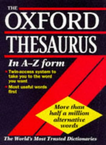 9780198600053: The Oxford Thesaurus
