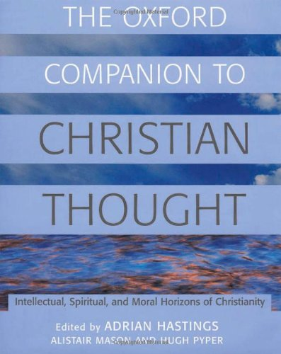 9780198600244: The Oxford Companion to Christian Thought (Oxford Companions)