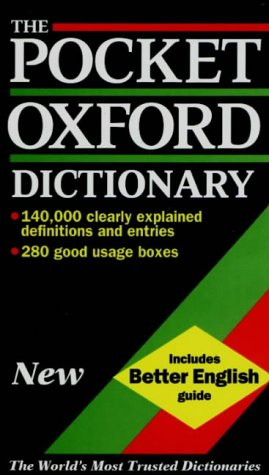 9780198600459: The Pocket Oxford Dictionary of Current English