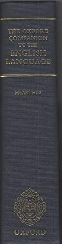THE CONCISE OXFORD COMPANION TO THE ENGLISH: McArthur, Tom and