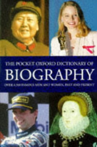 9780198600626: The Pocket Oxford Dictionary of Biography