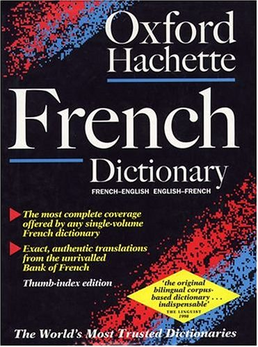 9780198600688: The Oxford-Hachette French Dictionary (2nd ed) (Thumb Index ed)