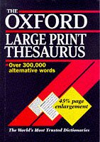 9780198601296: The Oxford Large Print Thesaurus