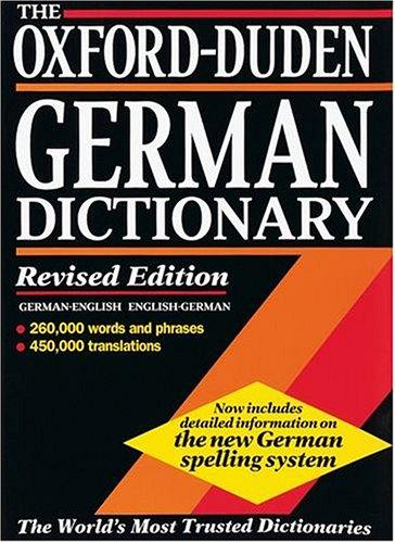 9780198601302: The Oxford-Duden German Dictionary: German-English/English-German