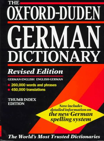 9780198601326: The Oxford-Duden German Dictionary: German-English/English-German (Rev Ed) (Thumb Index Ed)