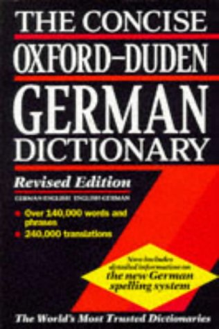 9780198601333: The Concise Oxford-Duden German Dictionary: English-German, German-English