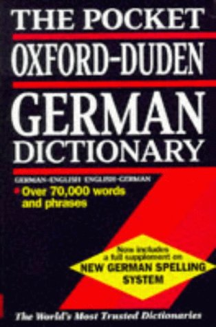 9780198601364: The Pocket Oxford-Duden German Dictionary