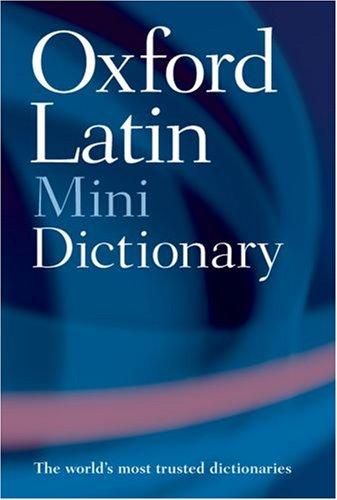 9780198601395: The Oxford Latin Minidictionary