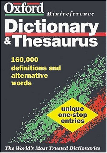 9780198601838: Dic the Oxford Minireference Dictionary & Thesaurus