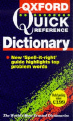 9780198602071: The Oxford Quick Reference Dictionary